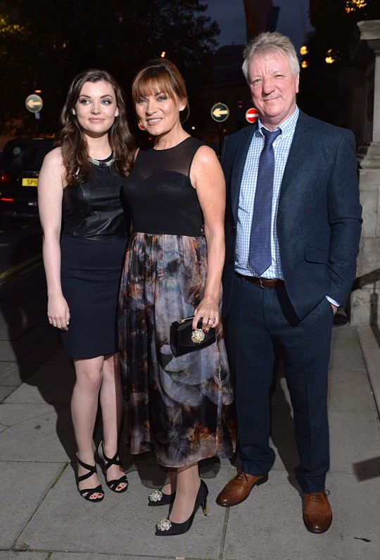 Lorraine Kelly with daughter and husband