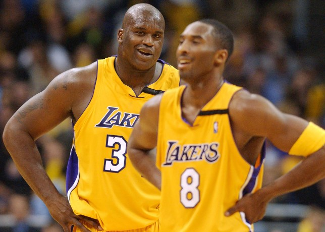 Shaquille O'Neal and Kobe Bryant at the LA Lakers