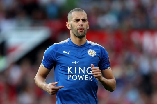 Islam Slimani struggled to make an impact in Leicester City