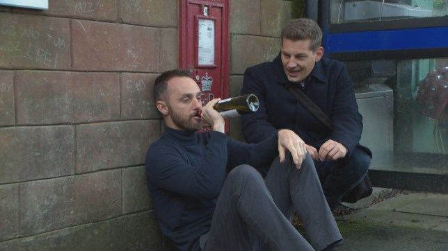 James Nightingale and John Paul mcQueen in Hollyoaks