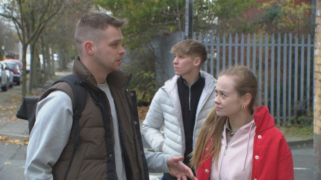 Juliet Quinn, Sid Sumner and Jordan Price in Hollyoaks