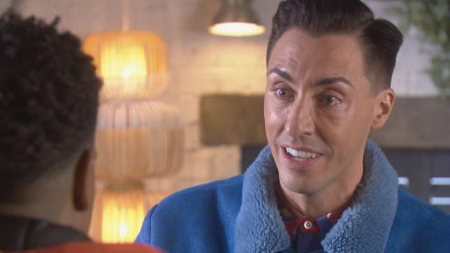 Scott is upset in Hollyoaks