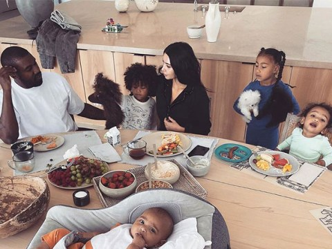 Kim Kardashian and family are breakfast beauties as they enjoy the calmest 'morning madness'