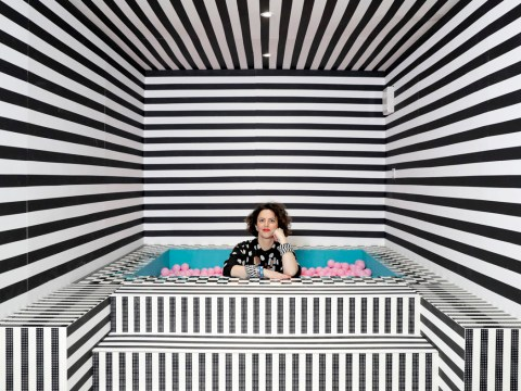 Camille Walala teams up with Lego to launch House of Dots, a five-room home with its own 8ft slide