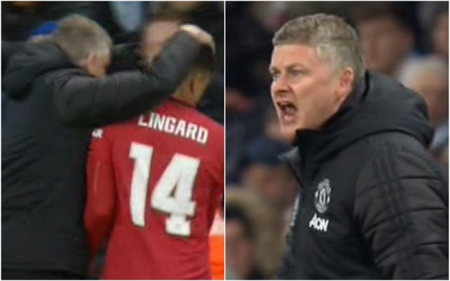 Ole Gunnar Solskjaer was furious with Jesse Lingard during Manchester United's win over Man City