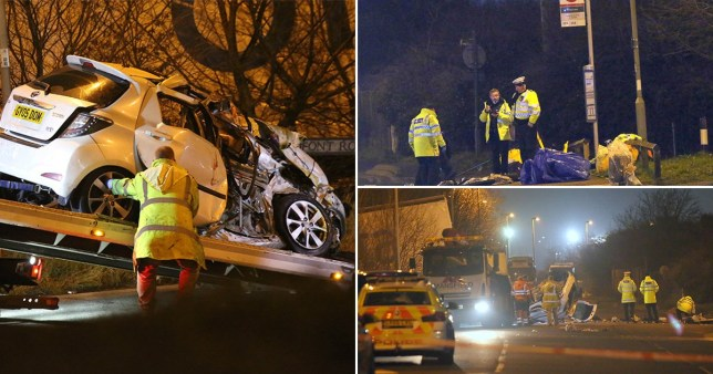 Three people died in the crash