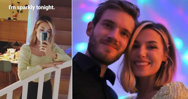 PewDiePie and Marzia Kjellberg snuggle up as they ring in New Year with YouTubers