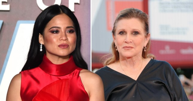 Kelly Marie Tran and Carrie Fisher