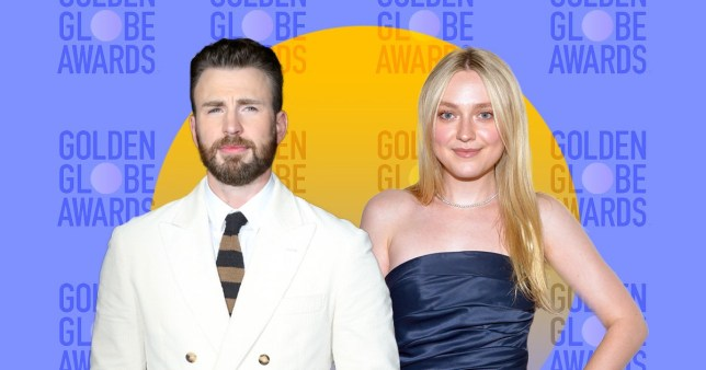 Dakota Fanning and Chris Evans are set to present awards at 2020 Golden Globes (Picture: Rex/Getty)