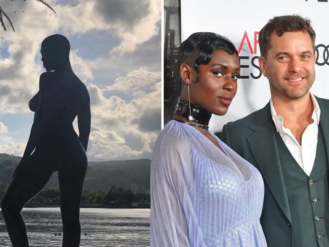 Pregnant Jodie Turner-Smith poses naked on the beach for husband Joshua Jackson