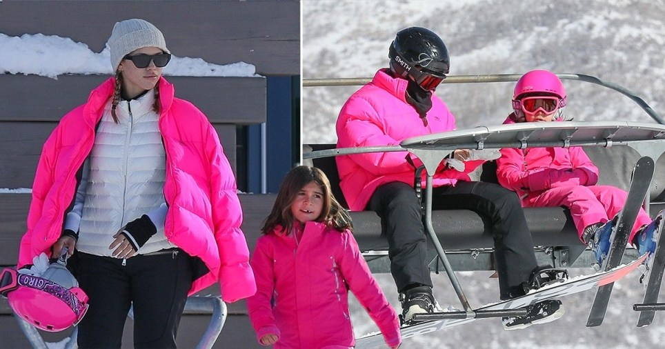 Sofia Richie, Penelope Disick skiing