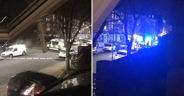 Police race to the scene of a Finsbury park stabbing