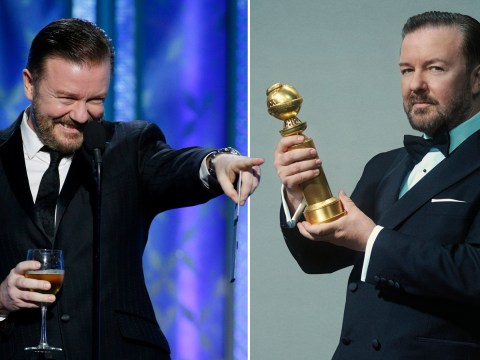 Stars want to avoid being butt of Ricky Gervais' jokes at Golden Globes and 'refuse to sit in front row'