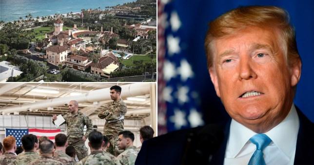 Trump made airstrike decision from beach resort
