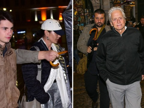 Michael Douglas and Catherine Zeta Jones take in the views during scenic anniversary trip to Istanbul
