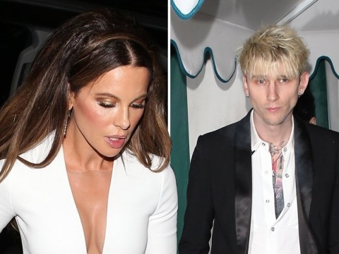 Kate Beckinsale leaves Golden Globes with ex Pete Davidson's bestie Machine Gun Kelly