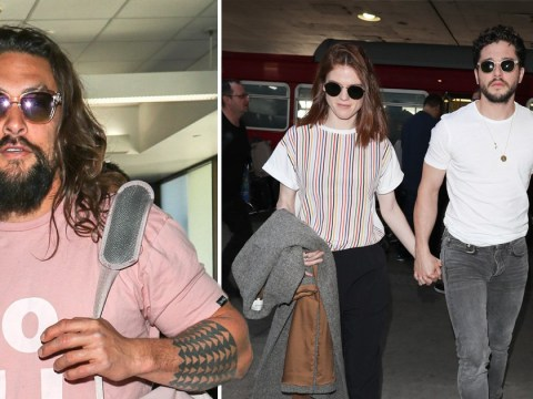 Game Of Thrones stars Kit Harington and Jason Momoa jet out of Los Angeles after partying at the 2020 Golden Globes
