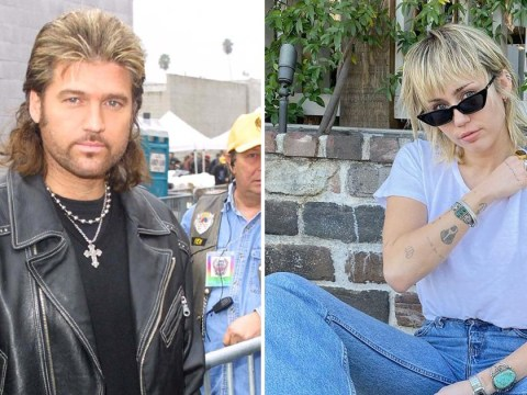 Miley Cyrus twins with dad Billy Ray as she rocks full on mullet ahead of music return