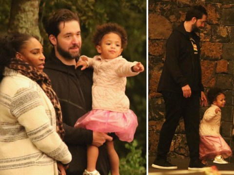 Serena Williams' daughter Olympia is just the cutest in her pink princess skirt during family trip to the zoo