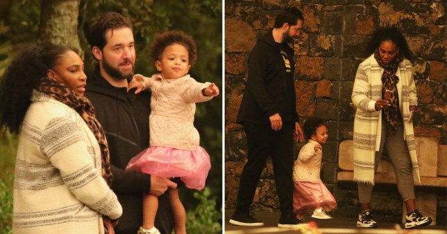 Serena Williams takes daughter Olympia to Auckland Zoo ...