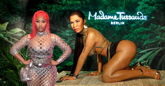 Nicki Minaj waxwork at Madame Tussauds
