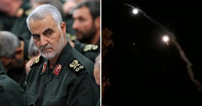 Iran said the attacks were in 'revenge' for the killing of General Soleimani