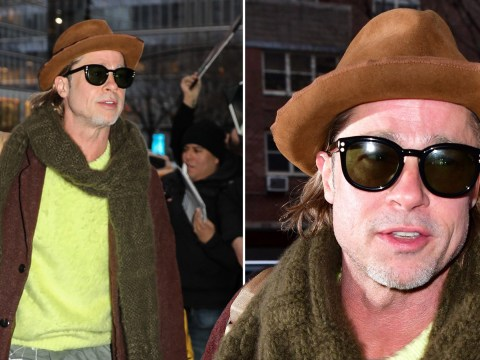 Brad Pitt is way too cool as he emerges following viral moment with Jennifer Aniston at Golden Globes