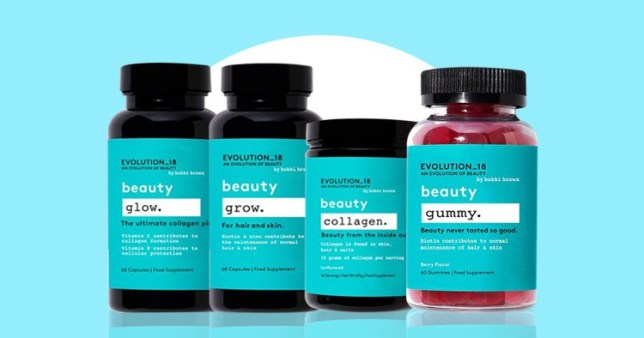 bobbi brown wellness supplements on a colourful background