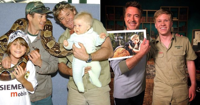 Steve Irwin's son Robert reconnects with Robert Downey Jr after meeting as a baby
