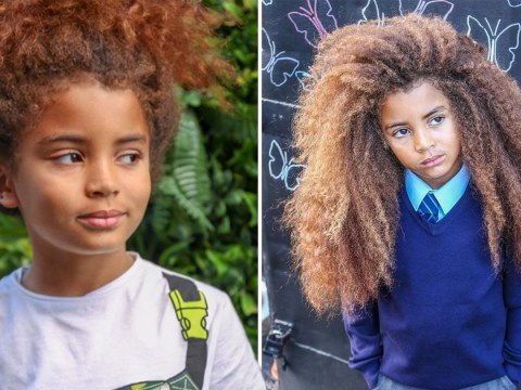 Mum considers declaring son, 8, non-binary so he can keep his signature curls at school
