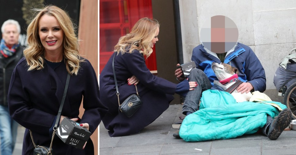 Amanda Holden homeless man