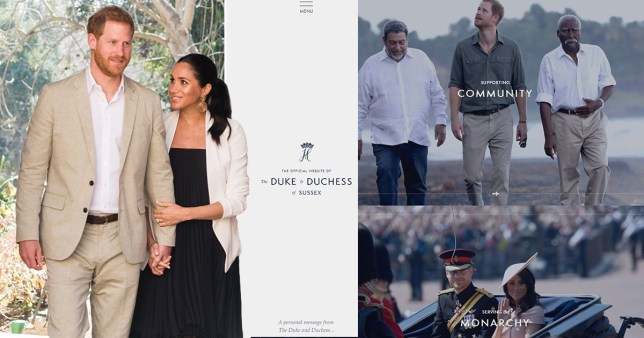 Harry and Meghan unveiled Royalsussex.com after quitting as senior royals