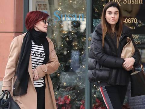 Sharon Osbourne makes rare outing with daughter Aimee following Ozzy's health woes