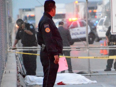 Desperate Mexican migrant 'cut his own throat' at US border after being denied entry