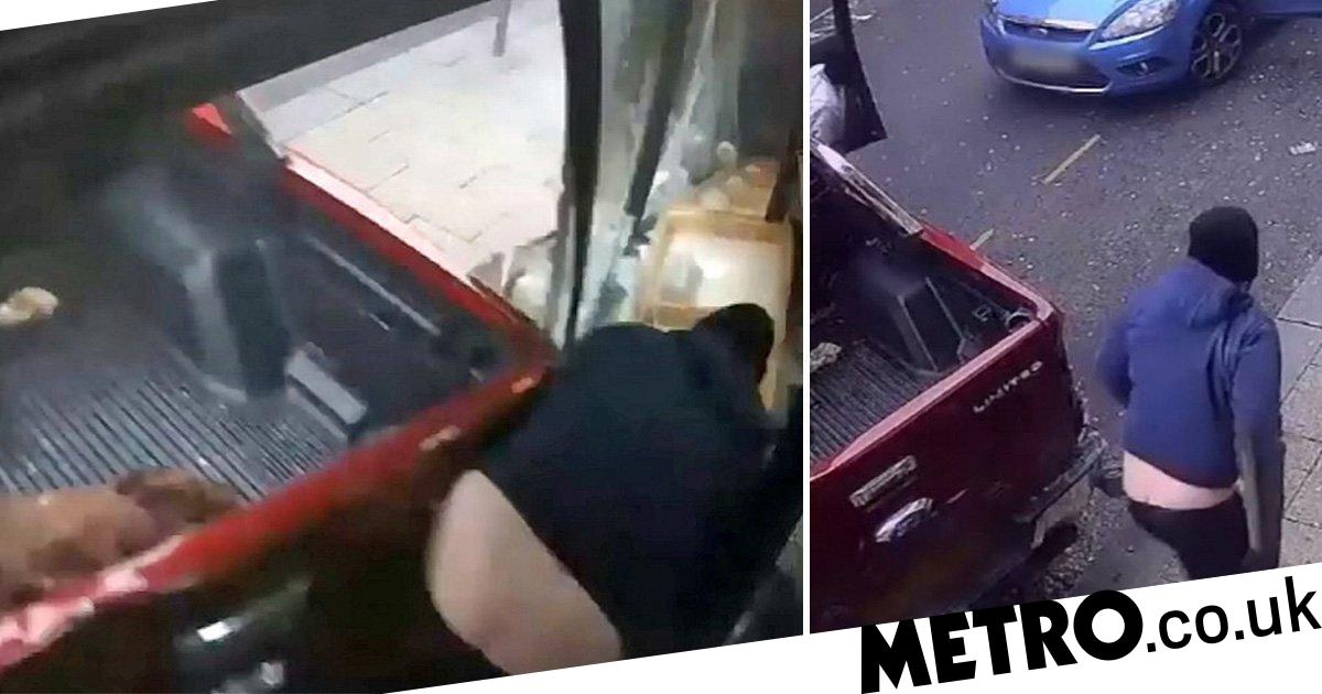 Bungling ram raider almost crushes accomplice reversing into jewellery shop