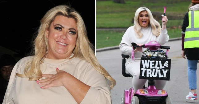 Gemma Collins films advert for healthy snack brand in London