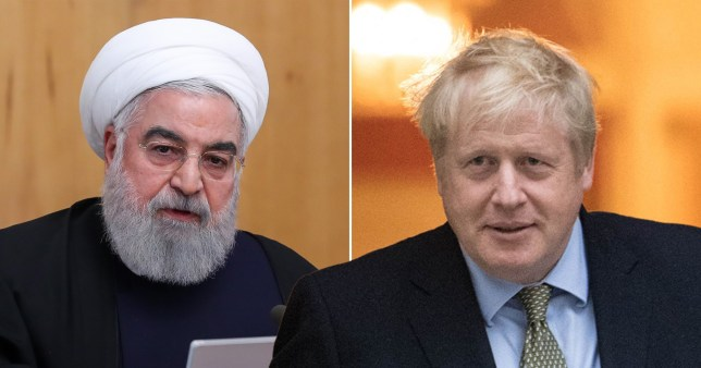Iranian president Hassan Rouhani has spoken to British prime minister Boris Johnson today following tensions in the Middle East (Pictures: Getty/PA)