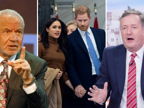 Lord Alan Sugar claims Piers Morgan 'grovelled' to Meghan Markle for a drink until she 'blew him out'