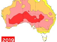 This diagram shows how Australia's temperatures have risen in the past 100 years