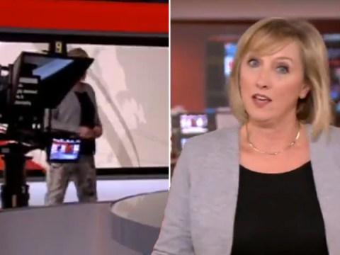 BBC presenter Martine Croxall applauded as she saves awkward camera blunder live on air