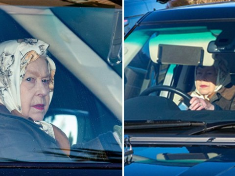 Queen caught driving with no seatbelt year after Prince Philip crash