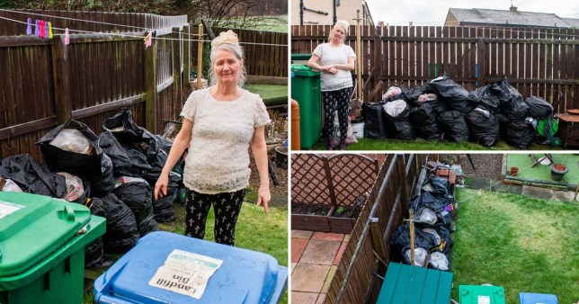 Woman's bins went unemptied for a year in dispute with neighbour over gate