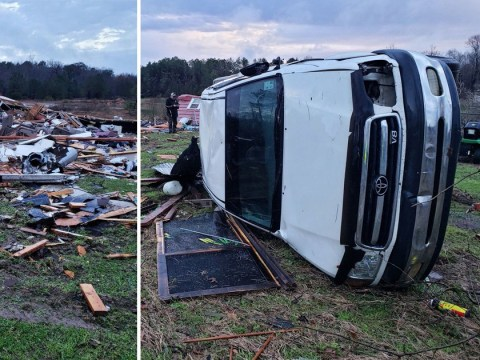 At least 10 dead as strong storms sweep across southern US