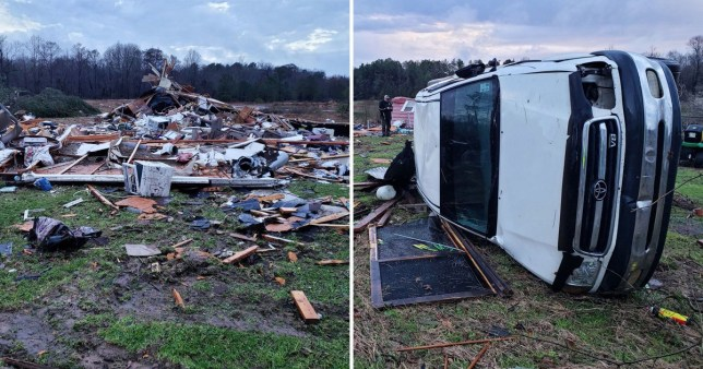 Storms have swept across the southern US