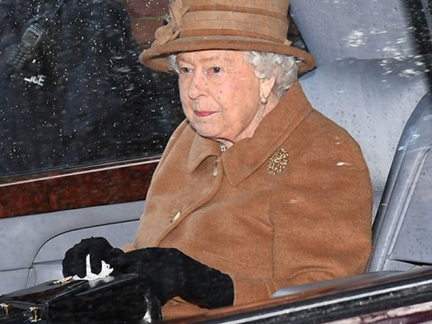 Queen Elizabeth looks dispirited arriving at church ahead of royal crunch talks
