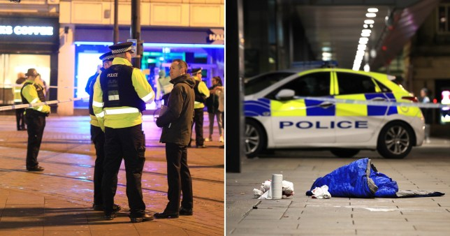 Caption: Manchester stabbing Pictures: London News and Pictures