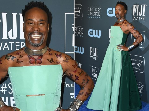 Billy Porter covers himself in butterflies and slays Critics' Choice Awards 2020 in showstopping green gown