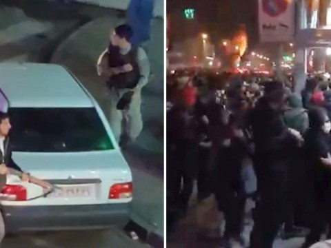 Gunmen 'open fire on protesters in Iran' in videos that show blood on the streets of Tehran