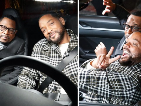 Will Smith and Martin Lawrence cruise into Bad Boys For Life premiere in a shiny fast car