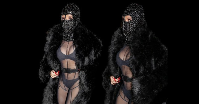 Cardi B rocks sheer bodysuit over bra and pants in freezing Paris
